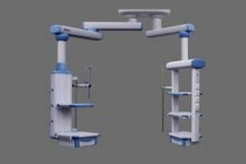 Ceiling Mounted Medical Pendant Articulated Column Double Arm